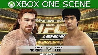Bruce Lee Vs Chuck Norris EA Sports UFC 2014 Celebrity Fight Xbox One Gameplay