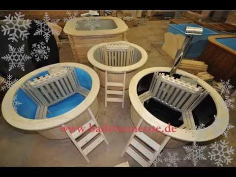 hot tub badezuber mit holz heizen probelauf und fazit funnycat tv. Black Bedroom Furniture Sets. Home Design Ideas