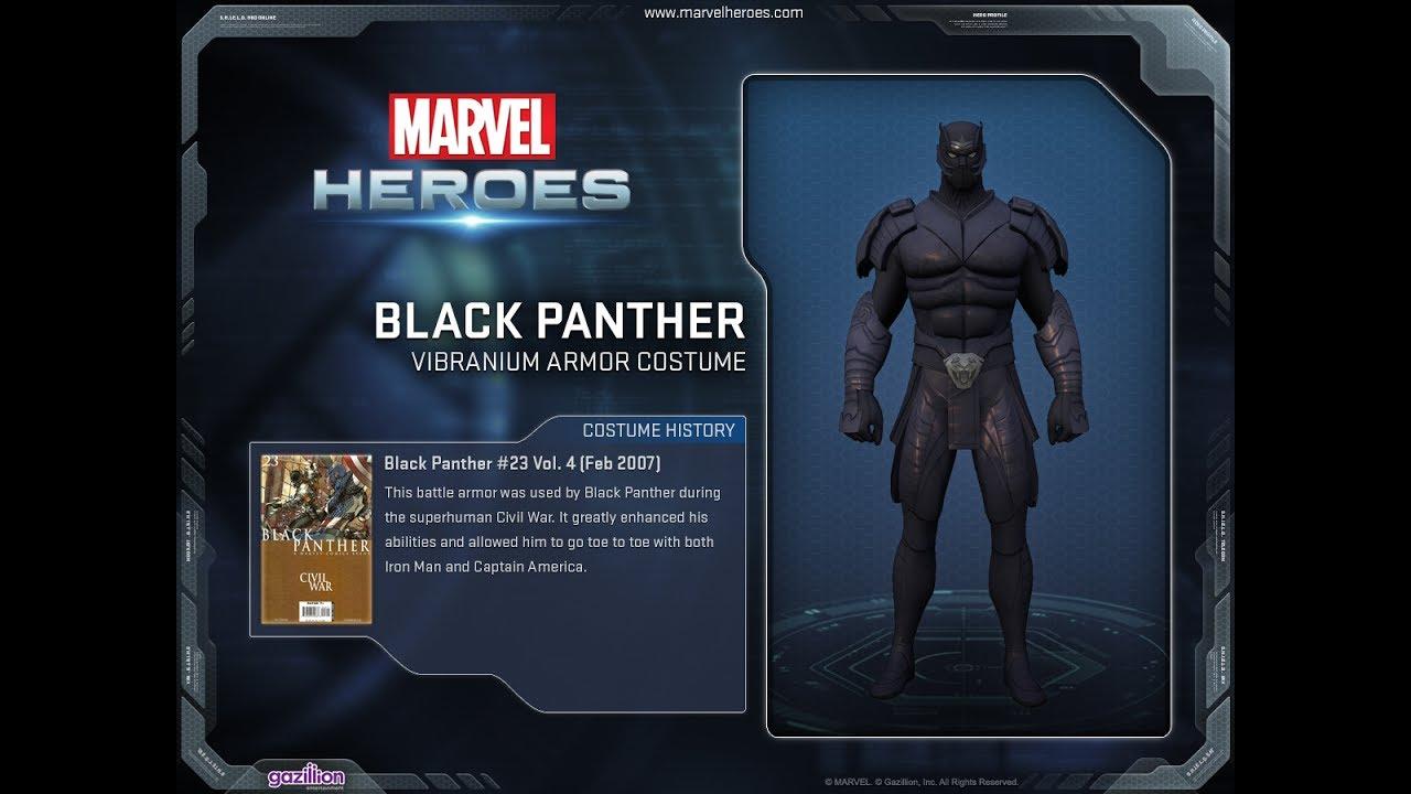 Marvel Heroes Black Panther Vibranium Armor Costume - YouTub