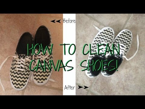 HOW TO: Clean Canvas Shoes (Vans, Keds, Converse)