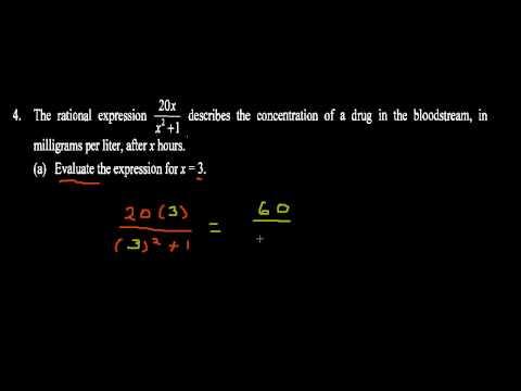 Intermediate Algebra Exam 1 Review - 3 (Define and Evaluate a Rational Expression)