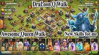 Clash of clans, COC 3 star th11 Strategy Dragon Loon Queen Walk farming base beautiful skill