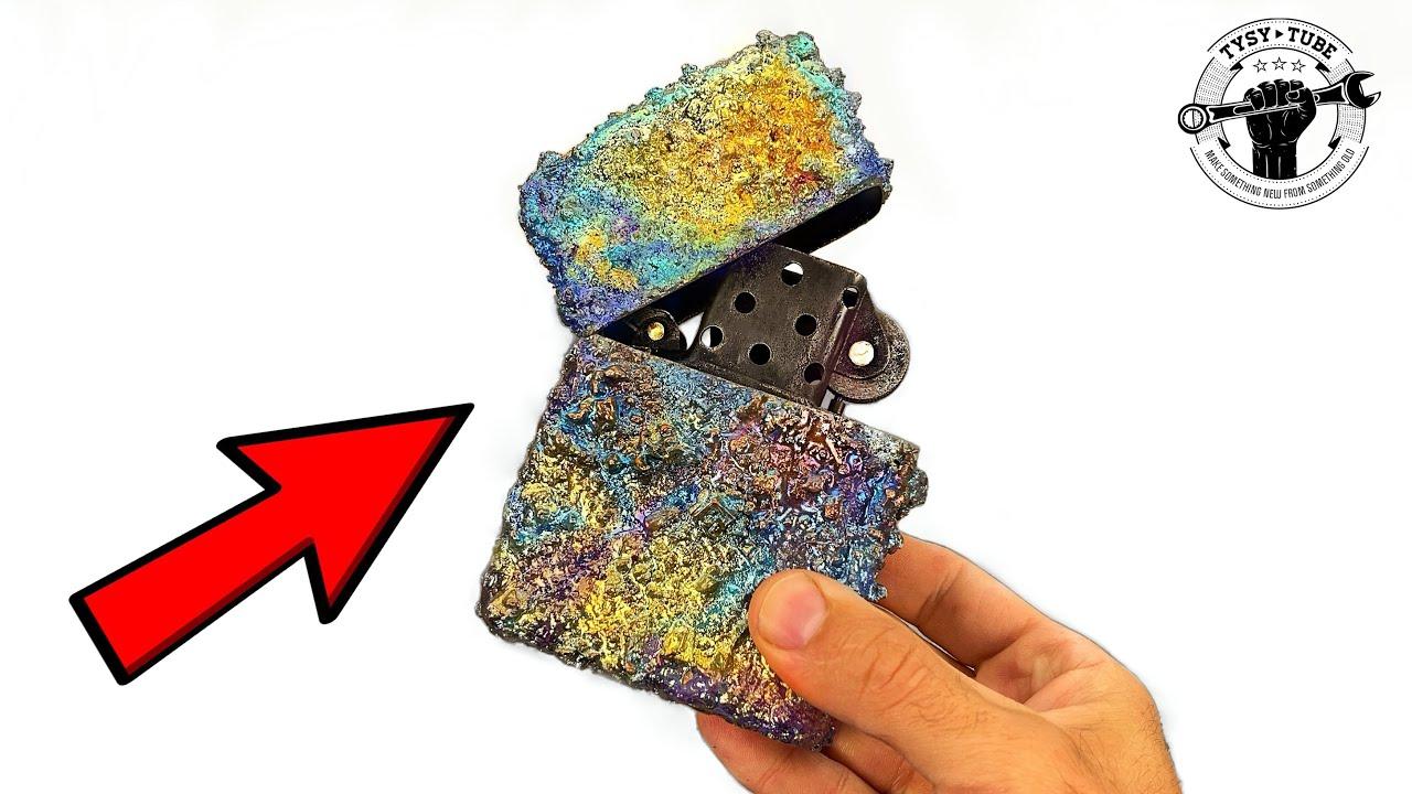 Huge Lighter Restoration with Bismuth DIAMONDS ~ ASMR