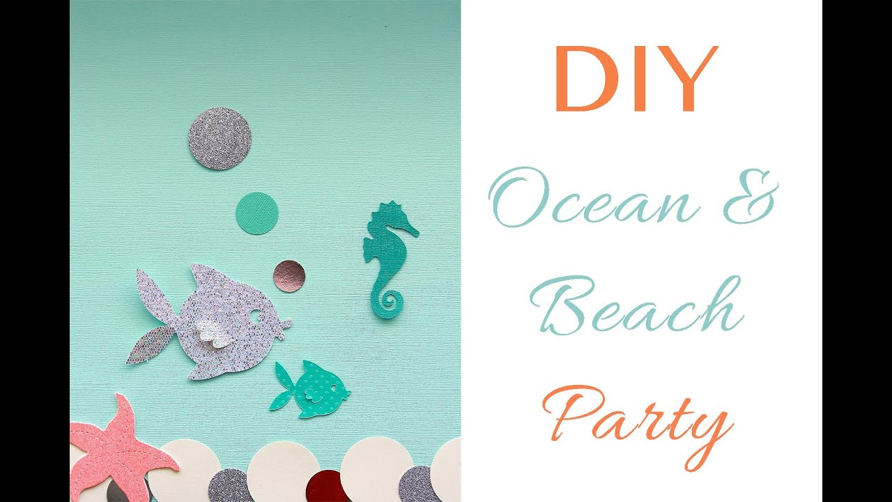 sc 1 st  YouTube & DIY | Ocean u0026 Beach theme party decorations - YouTube