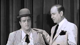 abbott and costello  he is 40 she is 10