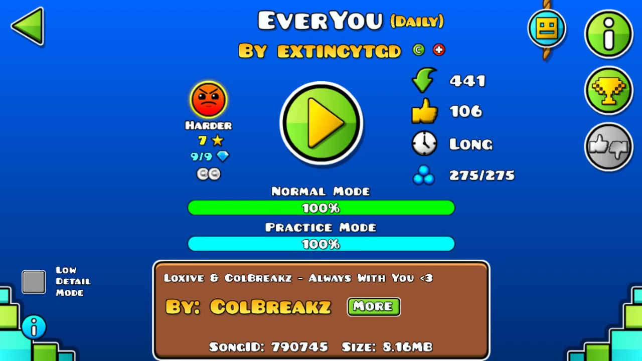 Download [GD] EVERYOU BY EXTINCYTGD (DAILY LEVEL) (ALL COINS)   GEOMETRY DASH 2.13