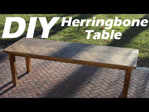 $20 DIY Dining Table*$8.08 Profit *6 Months To Pay For Itself!!! * #Herringbone #Howto #Table