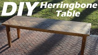 $20 DIY Dining Table*$22.47 Profit *6 Months To Pay For Itself!!! * #Herringbone #Howto #Table