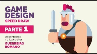 Drawing Flat Design Roman warrior in illustrator - Speed Draw