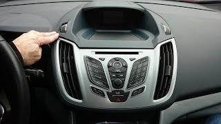 Ford C-max / Focus 2011 remove radio cd player