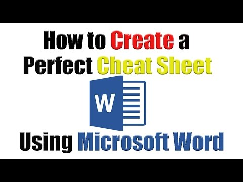 Tutorial | How To Create The Perfect Cheat Sheet Using Microsoft Word