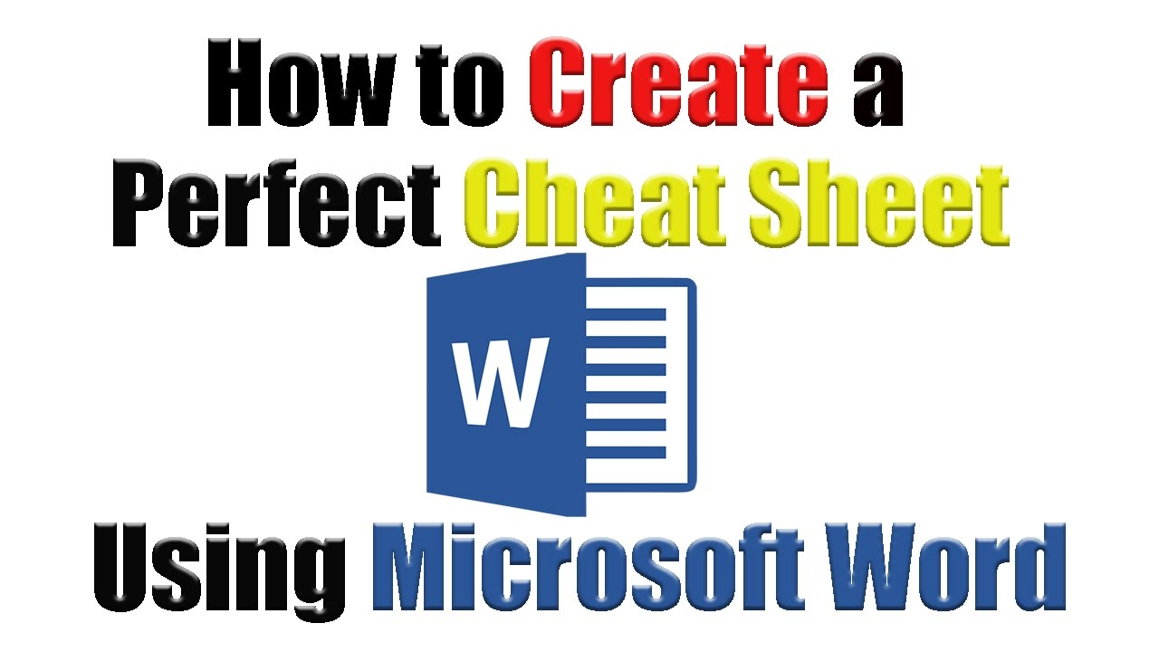 tutorial how to create the perfect cheat sheet using microsoft