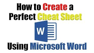 Tutorial   How to create the perfect cheat sheet using Microsoft Word