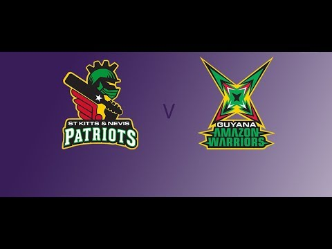 Guyana Amazon Warriors vs St Kitts and Nevis Patriots Highlights CPL T20 2017