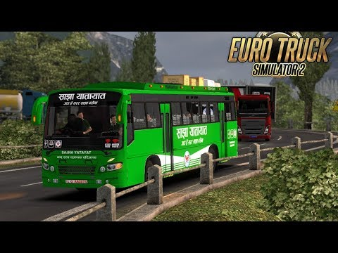 Nepal Online Games - Nepal to Lhasa China Travel by Bus || Himalaya Road || ETS2 ||