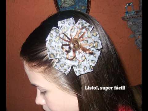 Tutorial: Gancho de cinta para el cabello. - YouTube