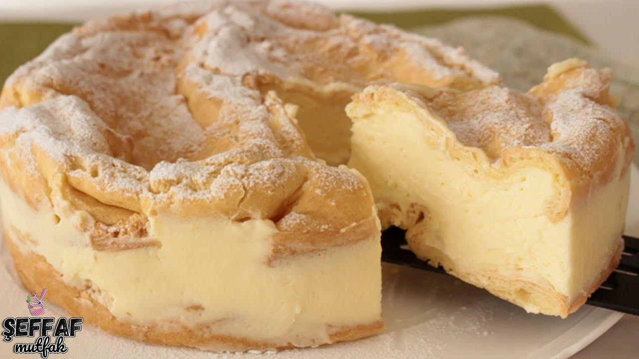Kek Pişirmek Yok☑️ Polonya nın Meşhur KARPATKA Pastası 🌼PROFİTEROLUN PASTA HALİ