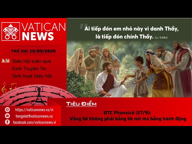 Radio: Vatican News Tiếng Việt thứ Hai 28.09.2020