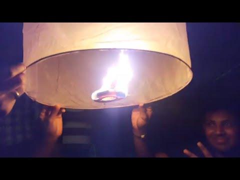 How To Launch Sky Lanterns  In Beach At Night #skylantern