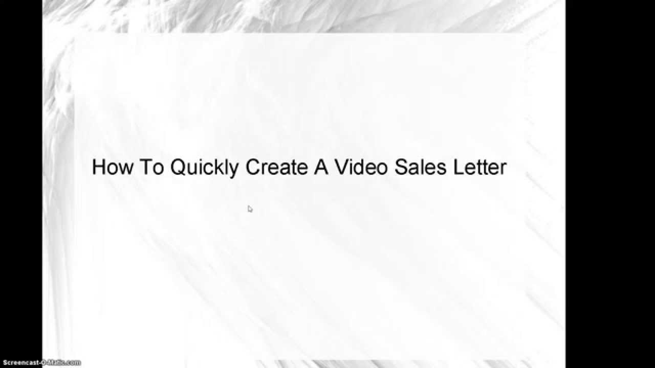 How To Create A Video Sales Letter Using Free Tools Youtube