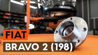 Montáž zadní levý pravý Lozisko kola FIAT BRAVO II (198): video zdarma