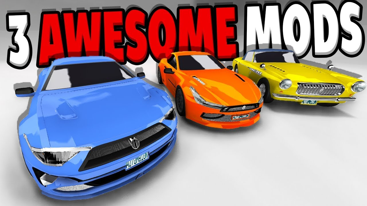 3 AWESOME CAR MODS! 3 SUPERCARS - BeamNG Drive Automation Car Mods