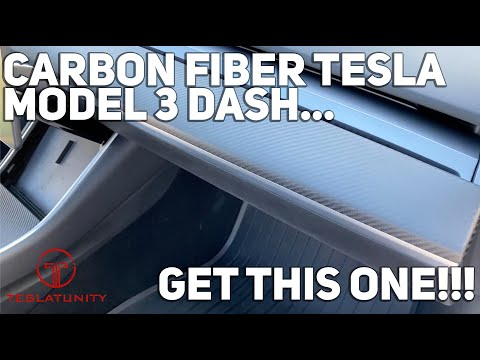 Carbon Fiber Tesla Model 3 Dash... Get This One!!