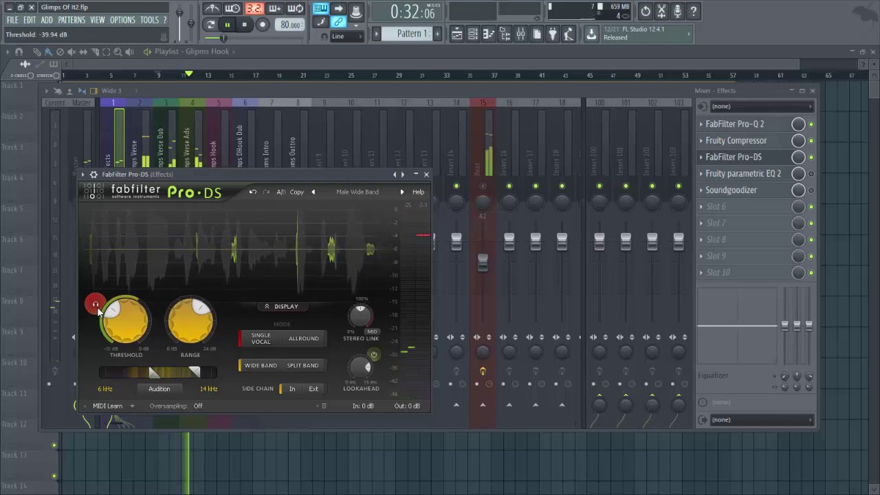 'Glimps Of It' How To Mix Rap Vocals In Fl Studio 12 Tutorial! By. (DoubleK Production)