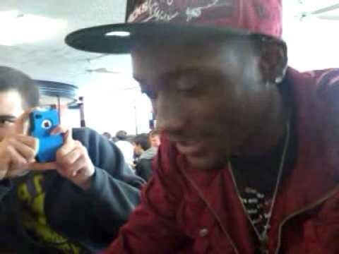 Mookie free rappin at Davie County High School, North Carolina