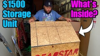 HUGE CRATE ! What's inside ? $1500 GAMBLE I bought an abandoned storage unit and found crate