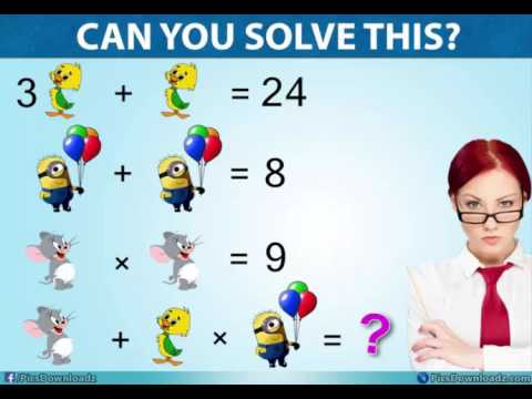 Solve this Jerry, Duck & Minion Puzzle - Viral Facebook Math Puzzle ...