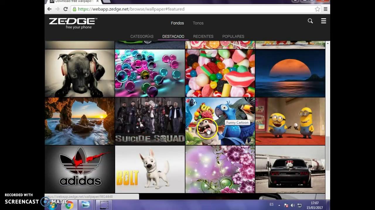 Como Entrar A Zedge En Mi Pc Youtube