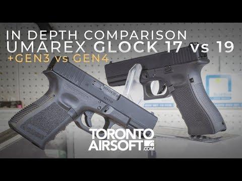 Which Glock to Rock? UMAREX 17 vs 19, GEN 4 vs GEN 3 In depth comparison- TorontoAirsoft.com