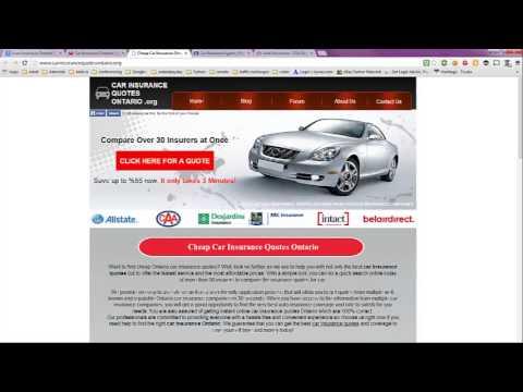 Auto Insurance Ontario Quote Canada