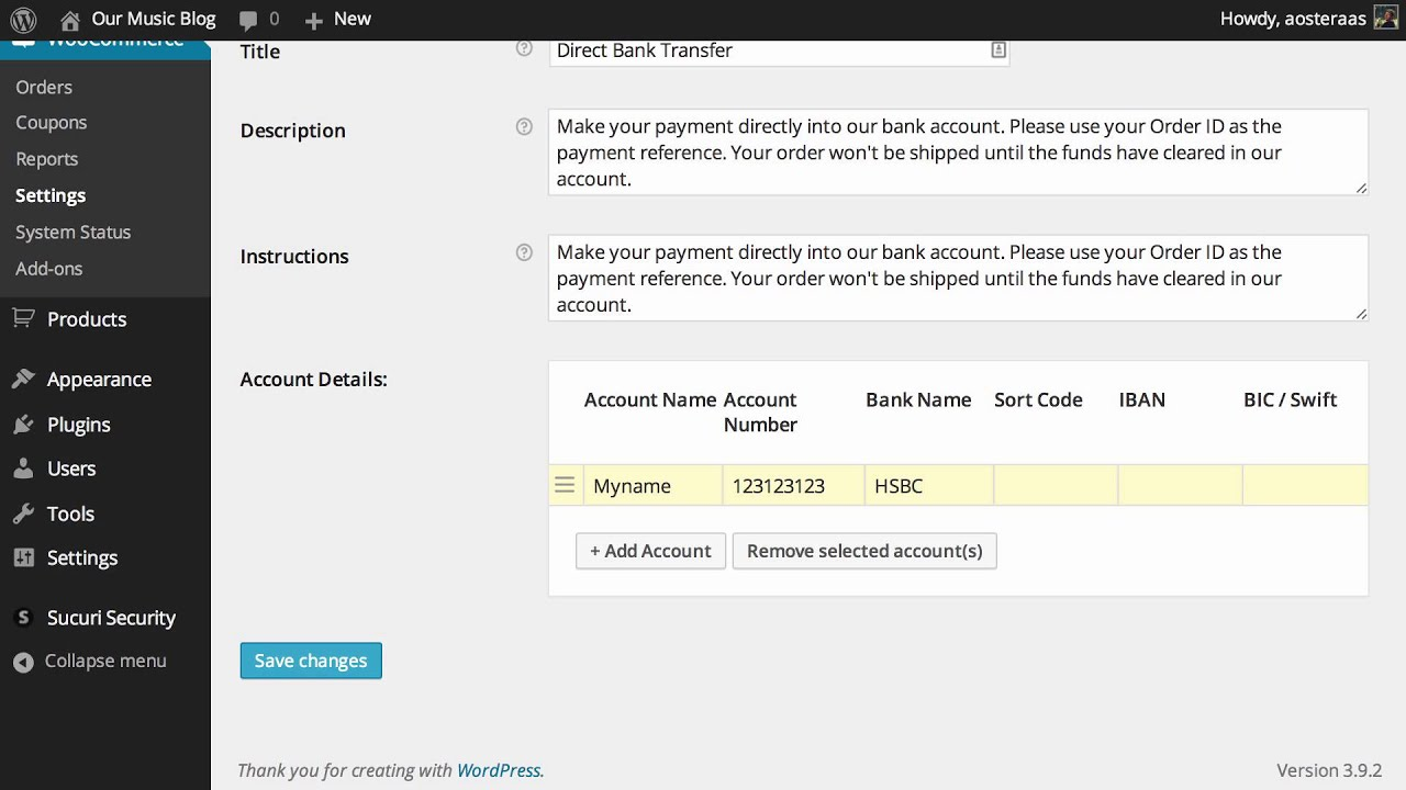 How to Configure Bank Transfer Payment in WooCommerce - YouTube
