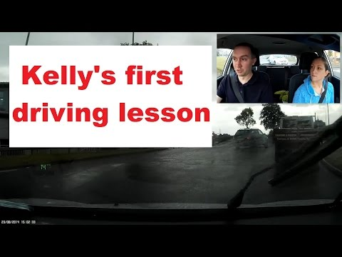 Kelly's first driving lesson - controls and moving off