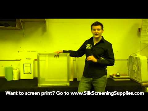 How to Screen Print - Screen Selection - Detailed instruction - Screen Printing 101 DVD pt 12