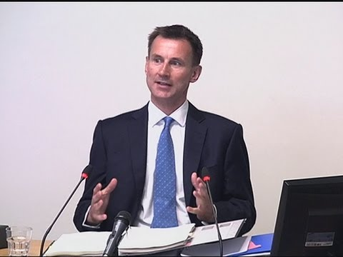 Jeremy Hunt at Leveson talks BSkyB: 'I was sympathetic to the bid'