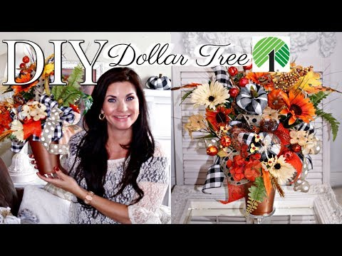 "🍁DIY DOLLAR TREE FALL FLORAL DECOR CRAFT 2019🍁""I LOVE FALL"" ep.6 Olivia's Romantic Home"