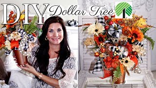 DIY DOLLAR TREE FALL FLORAL DE…