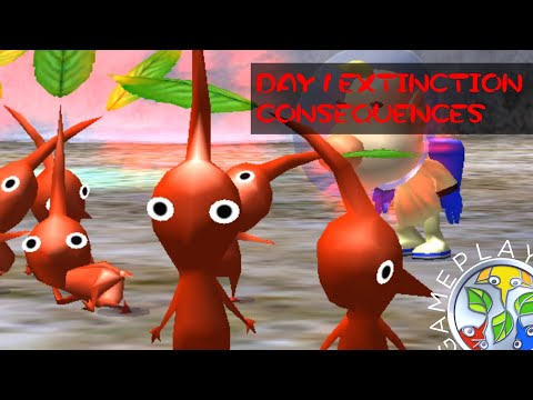 Pikmin Extinction on Day One in Pikmin 2 |