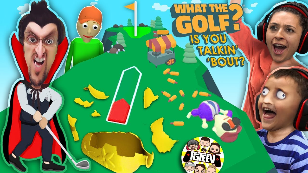 WHAT THE GOLF IS WRONG WITH YOU HOMIE?  Funny Game! (FGTEEV Baldi Clickbait HAHA)