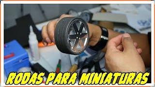 Como fazer rodas para miniaturas passo a passo