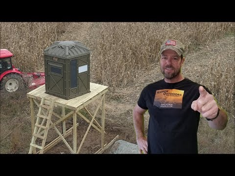 Terrain archer hunting blind review and set up Kapper Outdoors