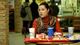 Анна Белоусова в программе Теория Заговора на Первом Канале - О калорийности фаст-фуда