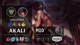 Akali Mid vs Yasuo - EUW Challenger Patch 10.3