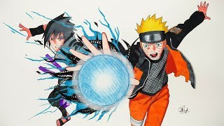 Drawing Naruto & Sasuke - Naruto Shippuden (5K SUBS SPECIAL)