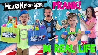 We Pranked Hello Neighbor and Granny (IN REAL LIFE) Epic Water Balloon Fight!