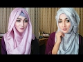 Easy Silk Hijab style with covered chest | Pari ZaaD