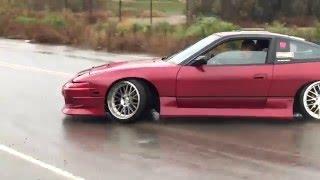 Raining drift in stock Sr20det S13